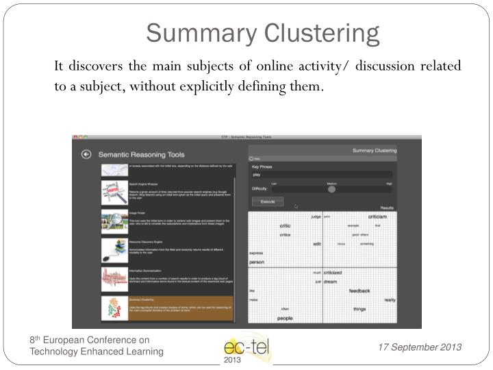 Summary Clustering