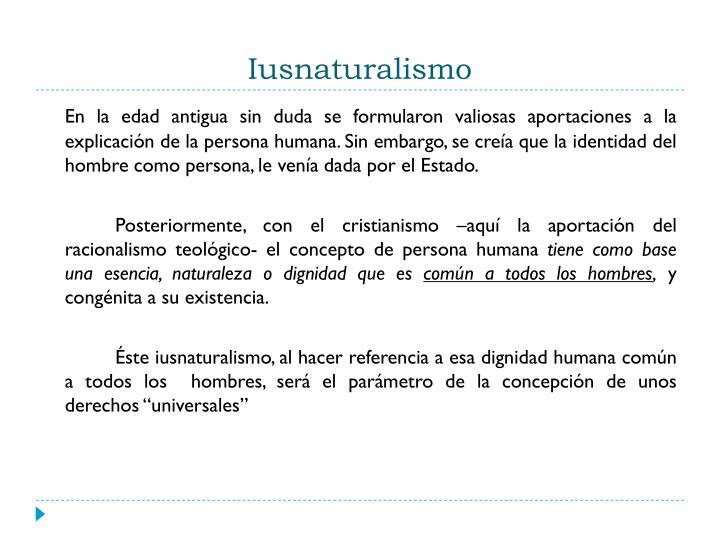 Iusnaturalismo