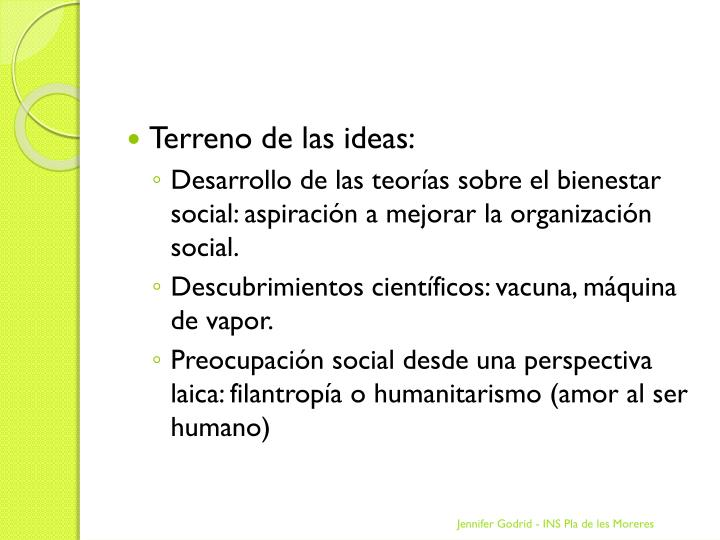 Terreno de las ideas: