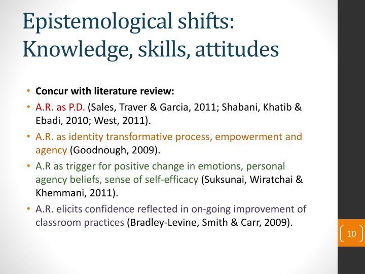 Epistemological shifts: