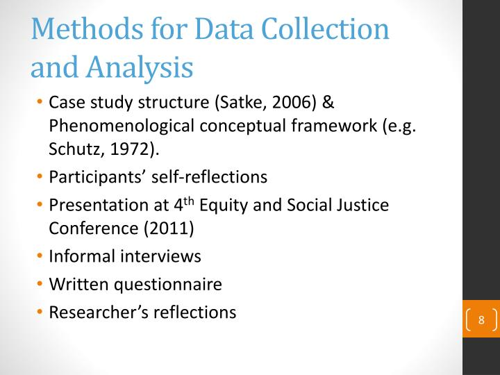 Methods for Data Collection and Analysis