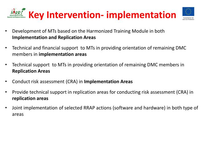 Key Intervention- implementation