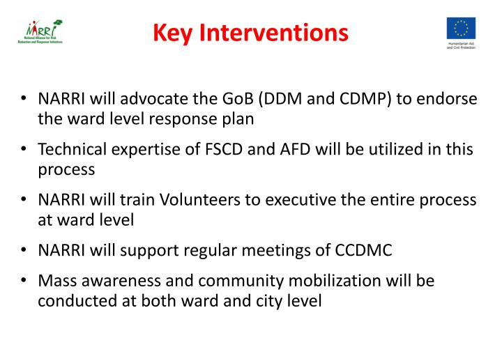Key Interventions
