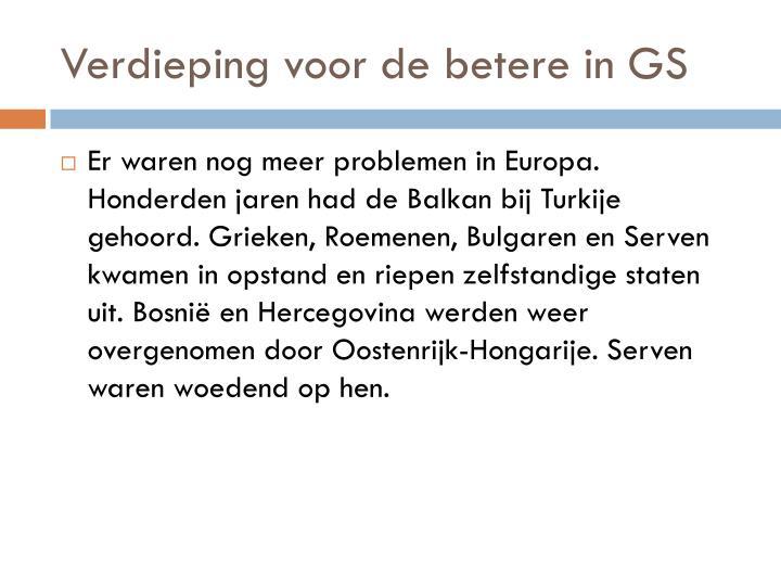 Verdieping voor de betere in GS