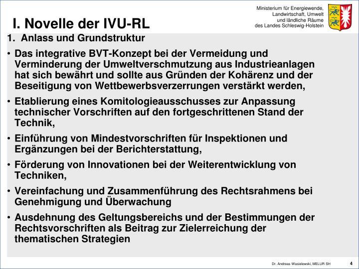 I. Novelle der IVU-RL