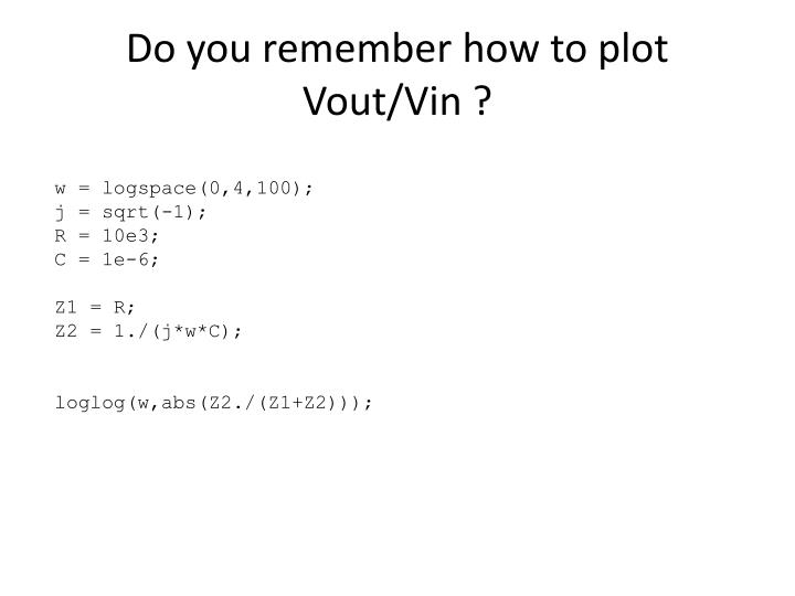 Do you remember how to plot