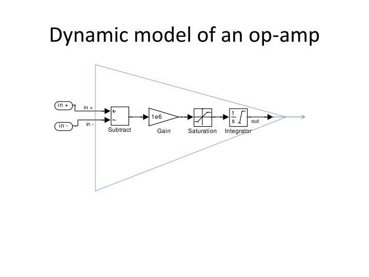 Dynamic model of an op-amp