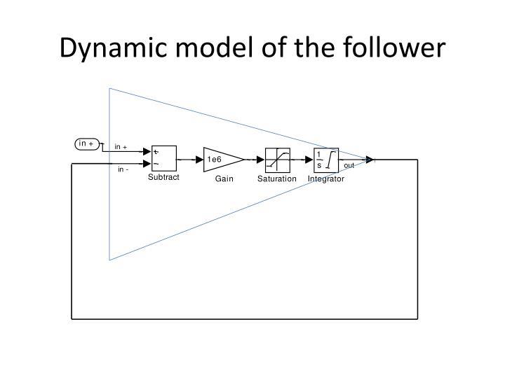 Dynamic model of the follower
