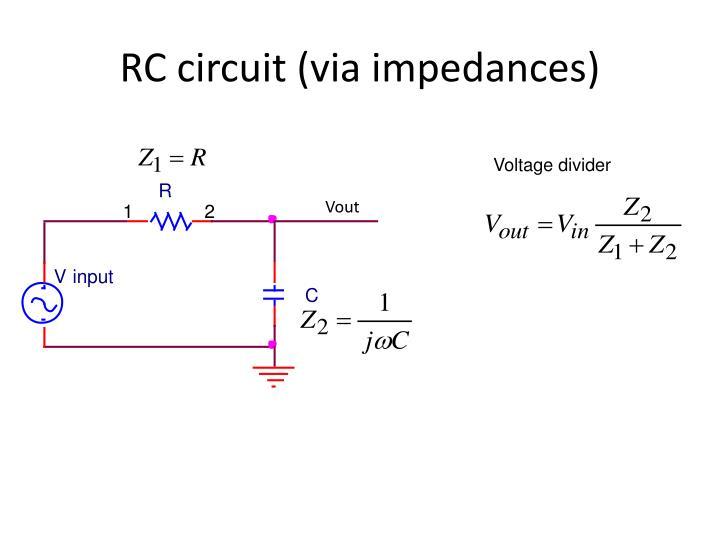 RC circuit (via impedances)