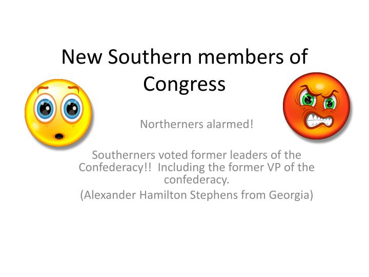 New southern members of congress