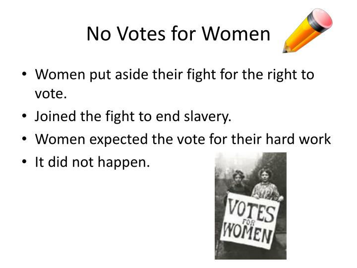 No Votes for Women
