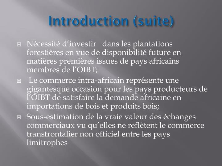 Introduction (suite)