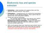 biodiversity loss and species extinction