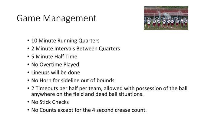 Game Management