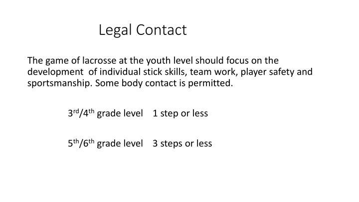 Legal Contact