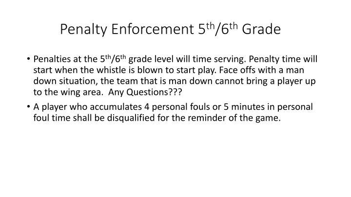 Penalty Enforcement 5