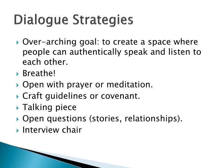Dialogue Strategies