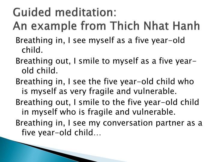 Guided meditation: