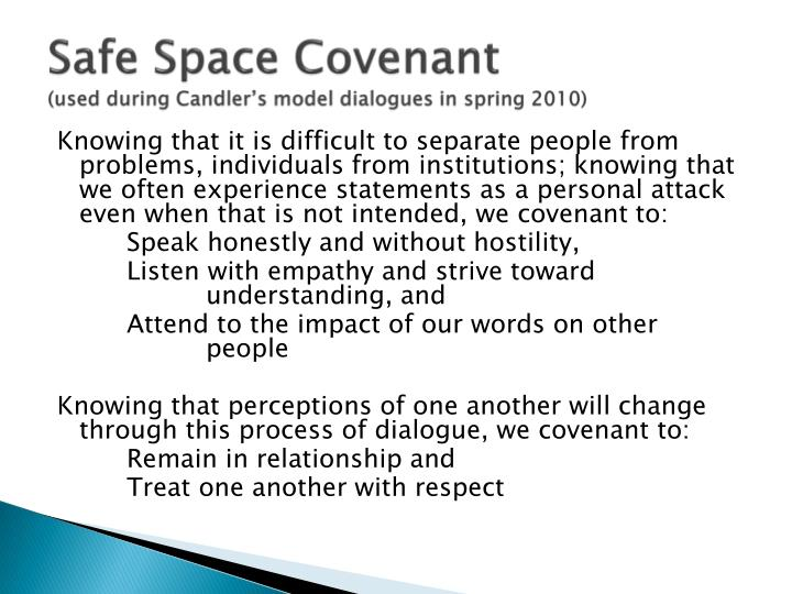 Safe Space Covenant