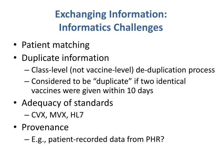 Exchanging Information: