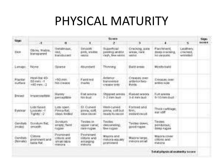 PHYSICAL MATURITY