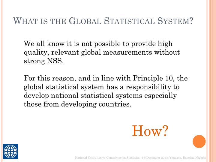 What is the Global Statistical System?