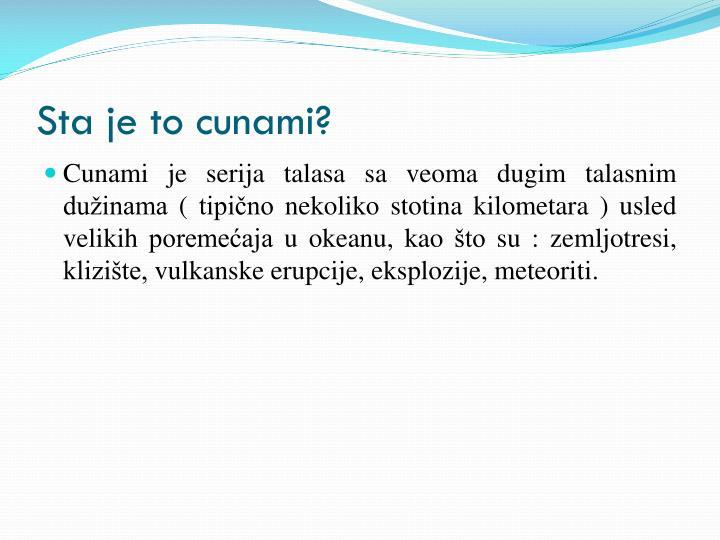 Sta je to cunami?