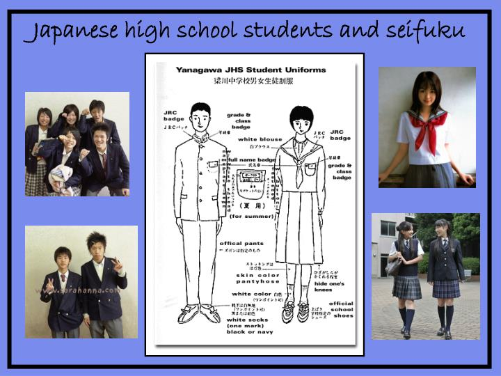 Japanese high school students and
