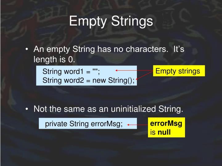 Empty Strings