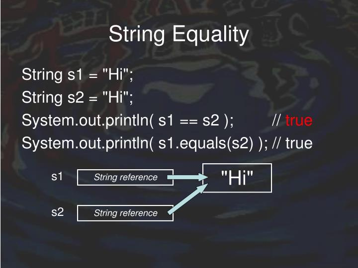 String Equality