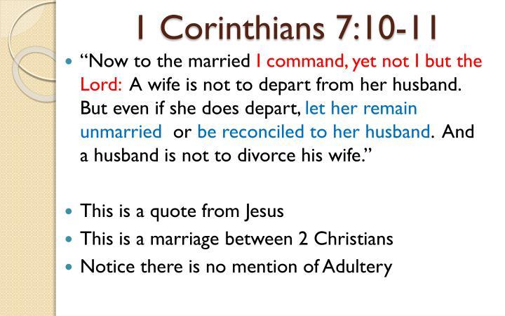 1 Corinthians 7:10-11