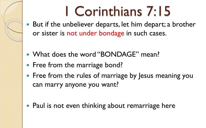 1 Corinthians 7:15