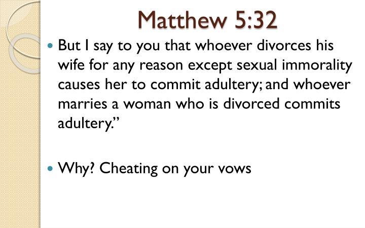Matthew 5:32