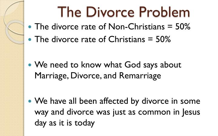The Divorce Problem