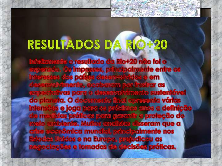 Resultados da Rio+20