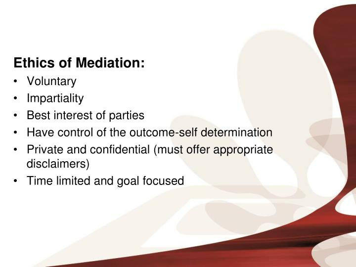 Ethics of Mediation: