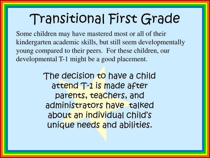 Transitional First Grade