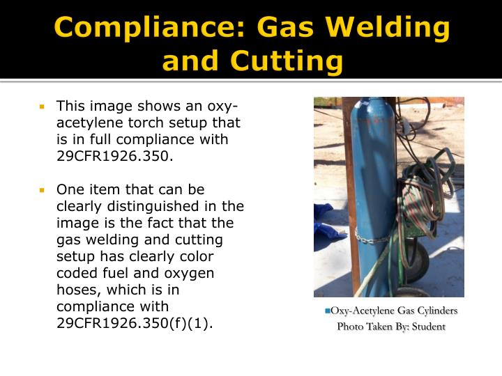 Compliance: Gas Welding and Cutting