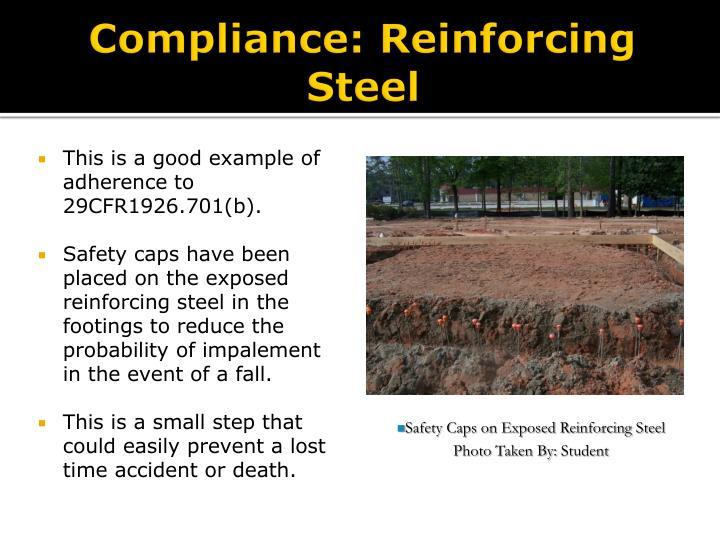 Compliance: Reinforcing Steel