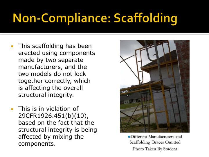 Non-Compliance: Scaffolding