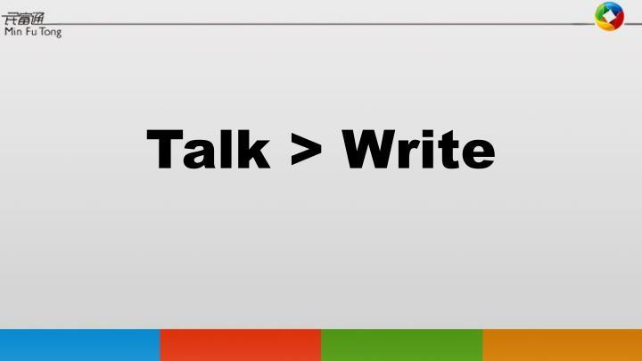 Talk >