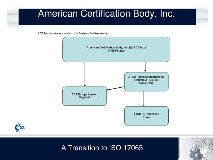 American Certification Body, Inc.