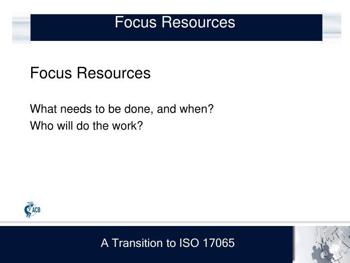 Focus Resources
