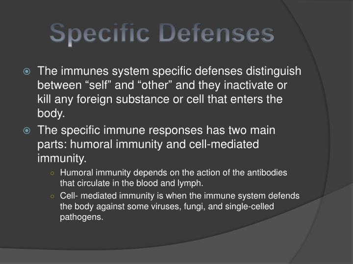 Specific Defenses
