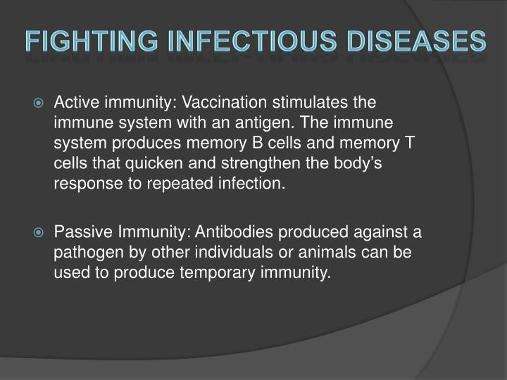 Fighting Infectious Diseases