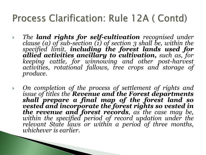 Process Clarification: Rule 12A (