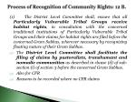process of recognition of community rights 12 b
