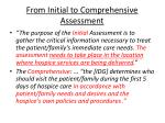 from initial to comprehensive assessment
