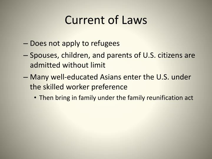 Current of Laws