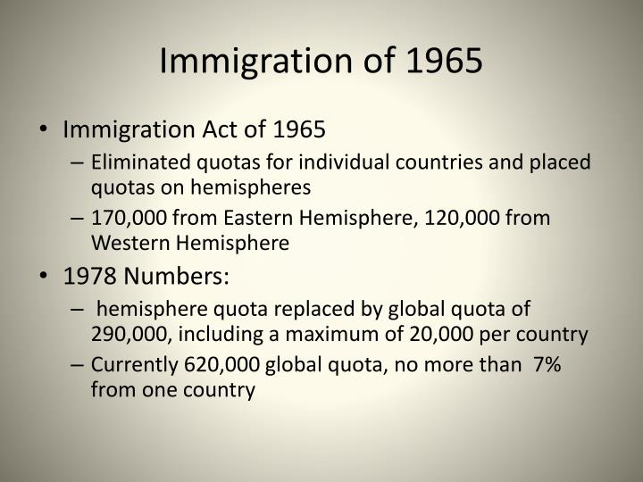 Immigration of 1965